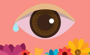 Gota en el ojo por conjuntivitis